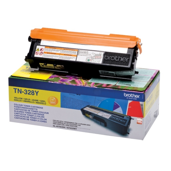 Original Brother TN328Y Toner gelb