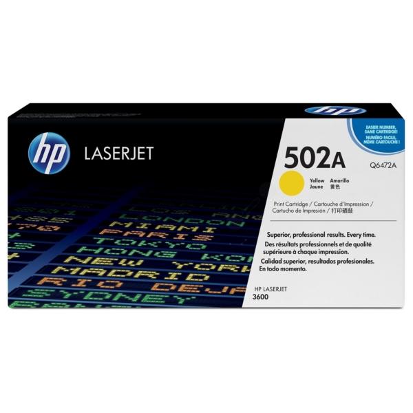 Original HP Q6472A / 502A Toner gelb