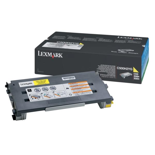 Original Lexmark C500H2YG Toner gelb