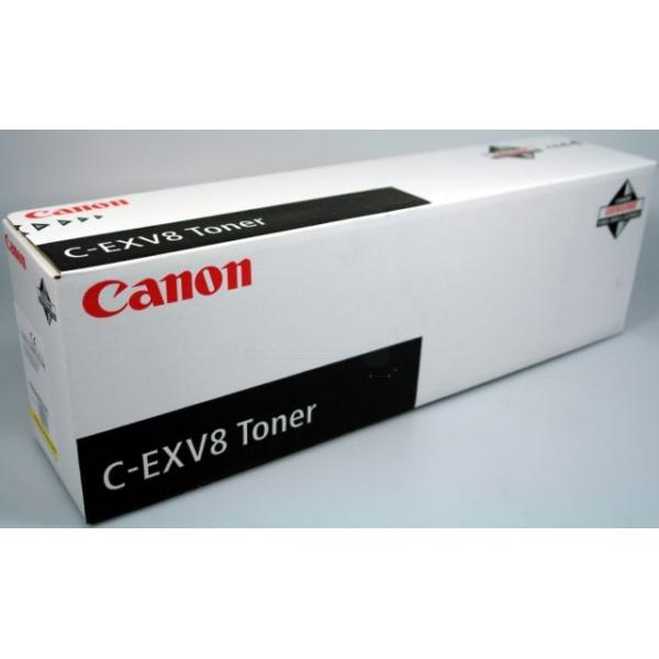 Original Canon 7626A002 / CEXV8 Toner gelb