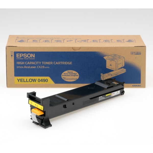 Original Epson C13S050490 / 0490 Toner gelb