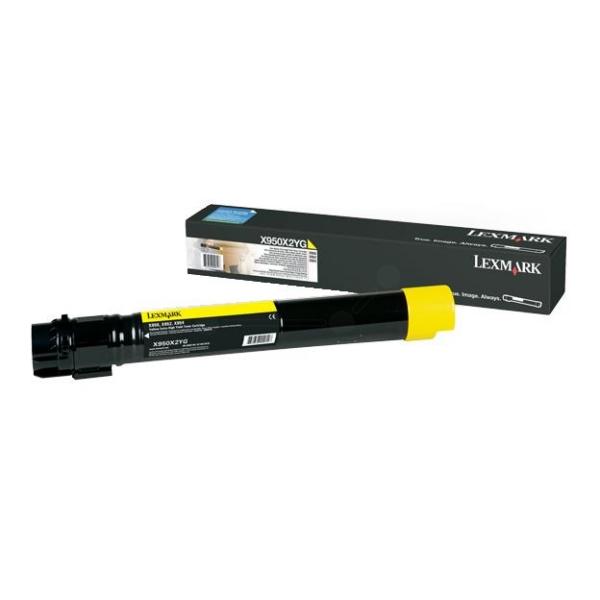 Original Lexmark X950X2YG Toner gelb