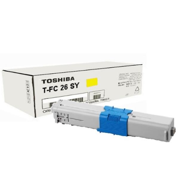 Original Toshiba 6B000000367 / TFC26SY Toner gelb