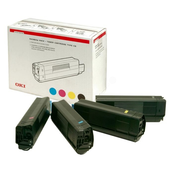Original OKI 42403002 / C6 Toner MultiPack