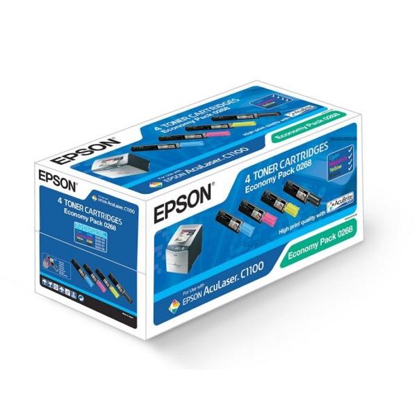 Oryginalny Epson C13S050268 / 0268 Wielopak tonerów
