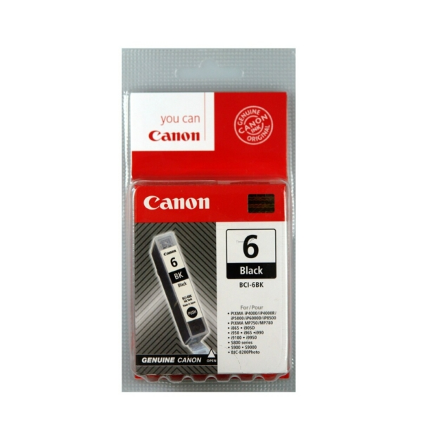 Original Canon 4705A002 / BCI6BK Ink cartridge black