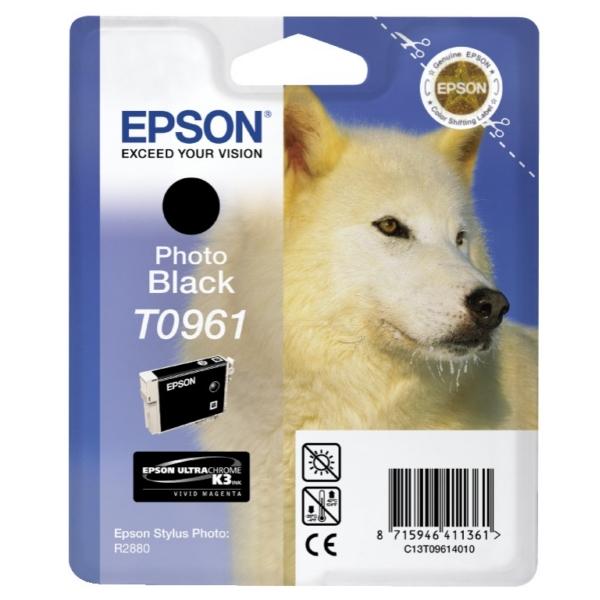 Original Epson C13T09614010 / T0961 Tintenpatrone schwarz