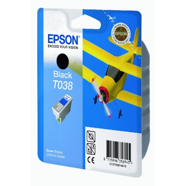 Original Epson C13T03814A10 / T038 Tintenpatrone schwarz