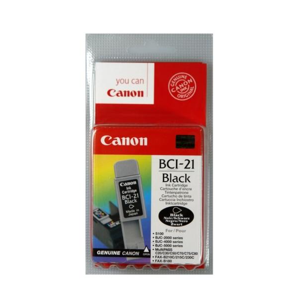 Original Canon 0954A002 / BCI21BK Tintenpatrone schwarz