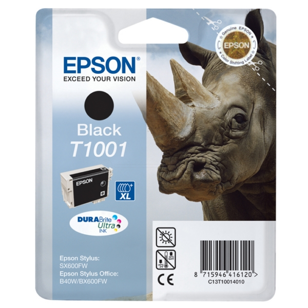 Original Epson C13T10014010 / T1001 Ink cartridge black