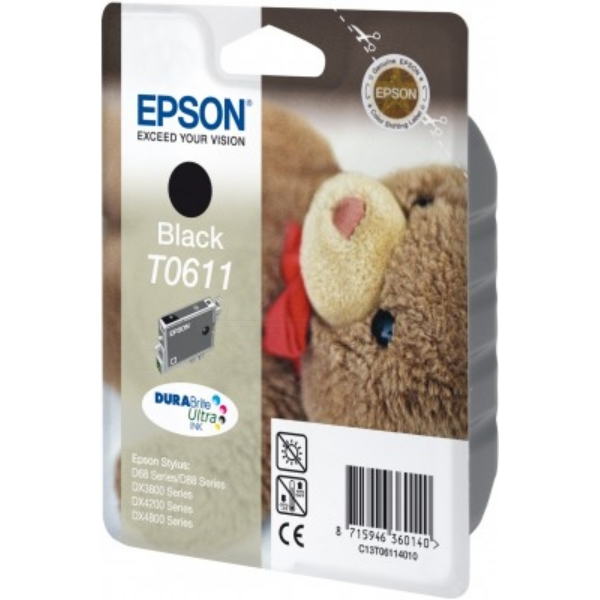 Original Epson C13T06114010 / T0611 Ink cartridge black