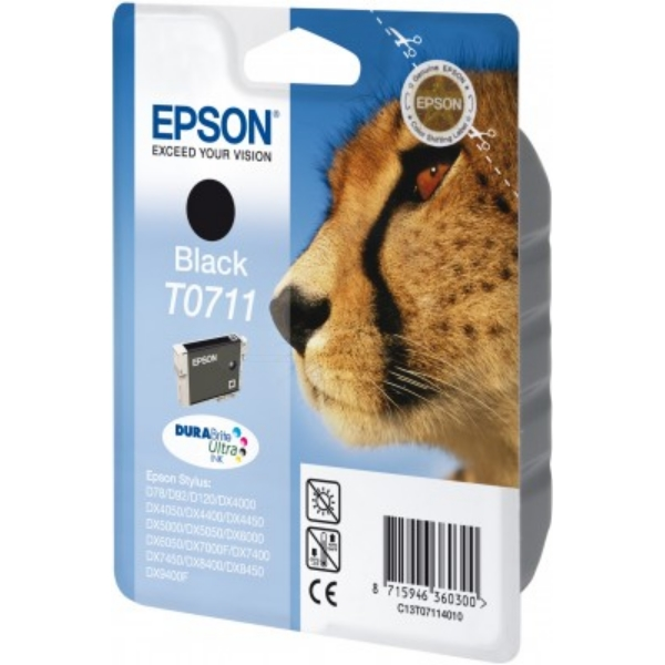 Original Epson C13T07114011 / T0711 Ink cartridge black