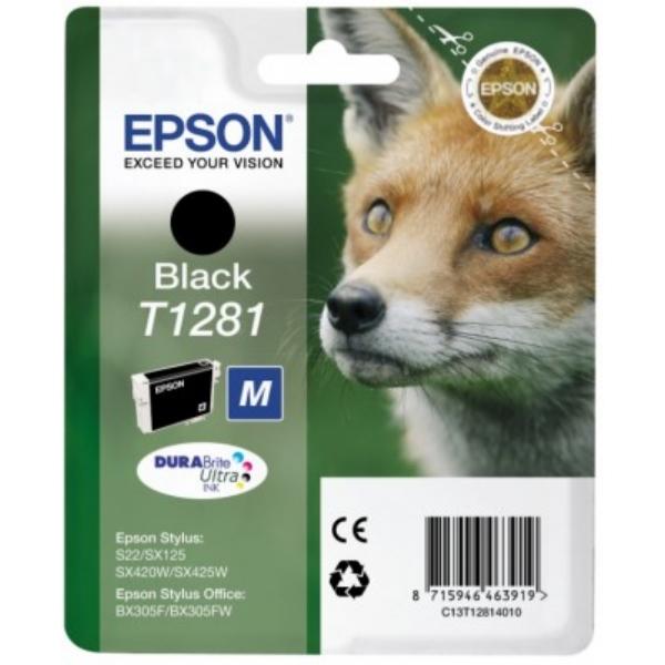 Original Epson C13T12814011 / T1281 Tintenpatrone schwarz