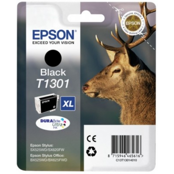 Original Epson C13T13014010 / T1301 Ink cartridge black