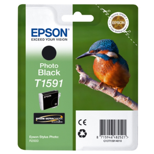 Original Epson C13T15914010 / T1591 Tintenpatrone schwarz