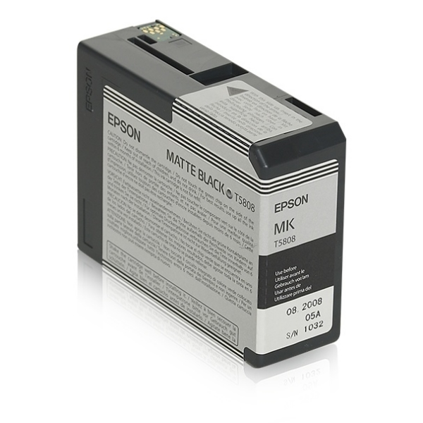 Original Epson C13T580800 / T5808 Tintenpatrone schwarz matt