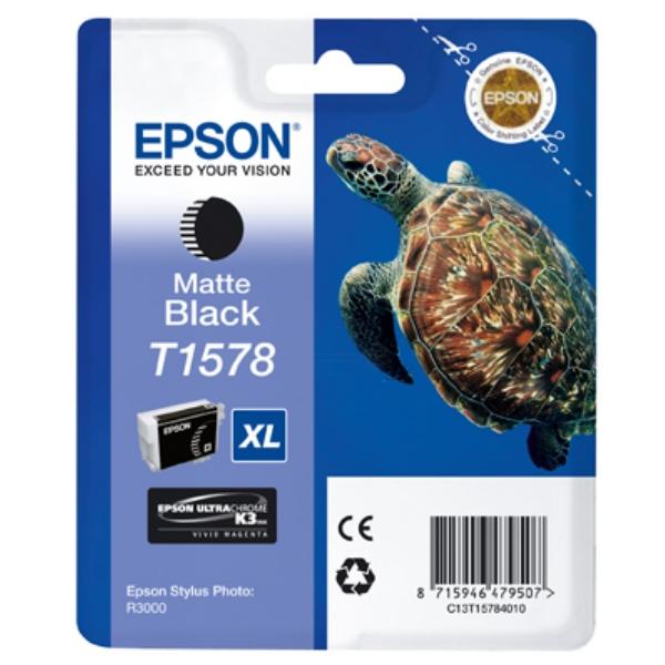 Original Epson C13T15784010 / T1578 Tintenpatrone schwarz matt