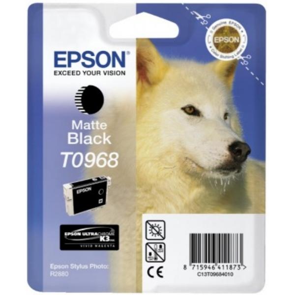 Original Epson C13T09684010 / T0968 Tintenpatrone schwarz matt