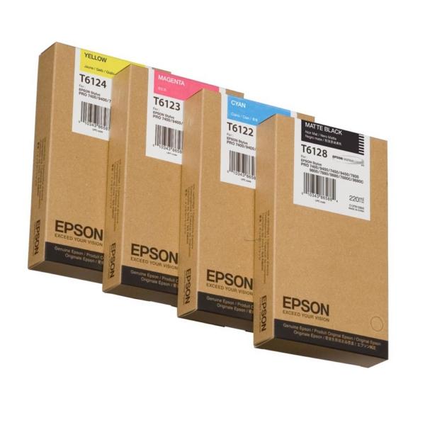 Original Epson C13T612800 / T6128 Tintenpatrone schwarz matt