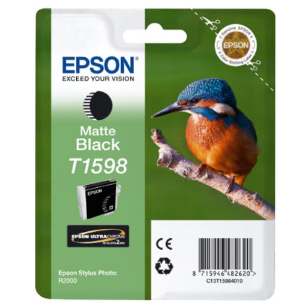 Original Epson C13T15984010 / T1598 Tintenpatrone schwarz matt