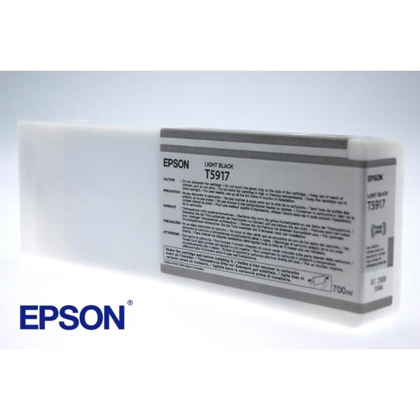 Original Epson C13T591700 / T5917 Tintenpatrone schwarz hell