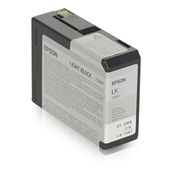 Original Epson C13T580700 / T5807 Tintenpatrone schwarz hell