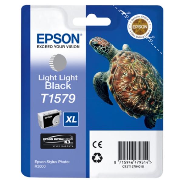 Original Epson C13T15794010 / T1579 Tintenpatrone schwarz hell hell
