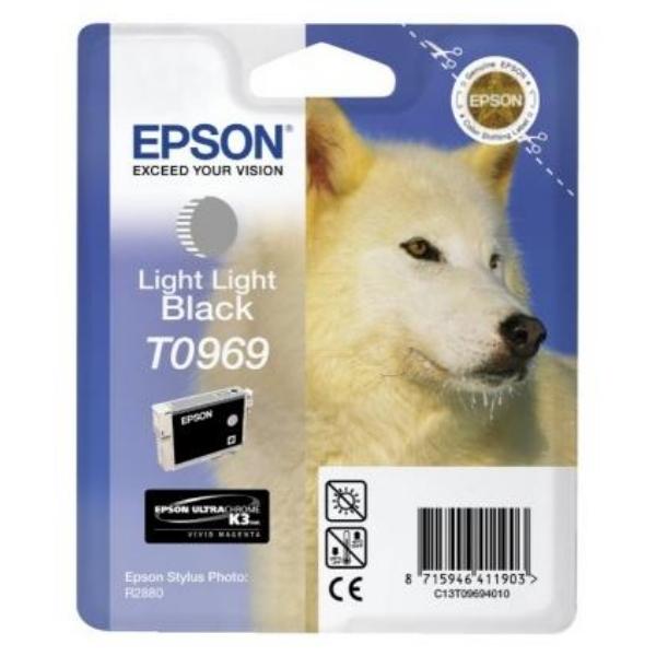 Original Epson C13T09694010 / T0969 Tintenpatrone schwarz hell hell