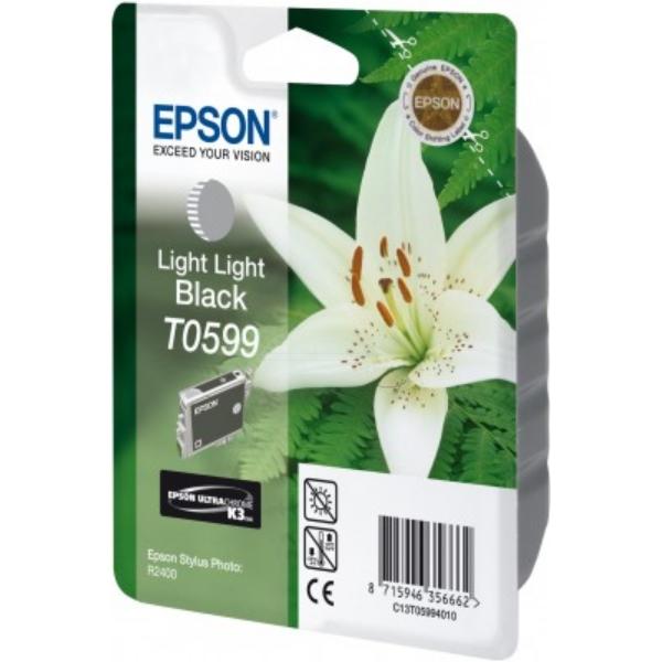 Original Epson C13T05994010 / T0599 Tintenpatrone schwarz hell hell