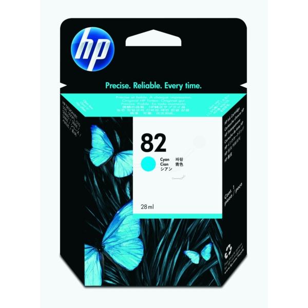 Original HP CH566A / 82 Tintenpatrone cyan