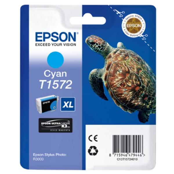 Original Epson C13T15724010 / T1572 Tintenpatrone cyan