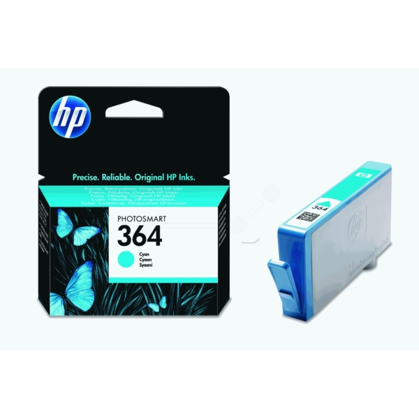Original HP CB318EE / 364 Ink cartridge cyan