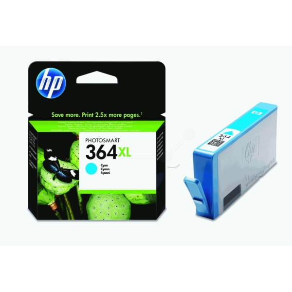 Original HP CB323EE / 364XL Ink cartridge cyan
