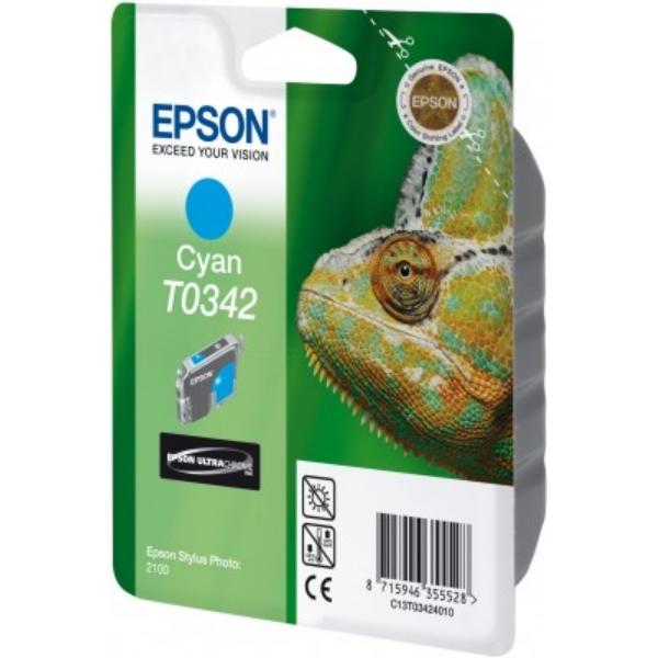Original Epson C13T03424010 / T0342 Tintenpatrone cyan