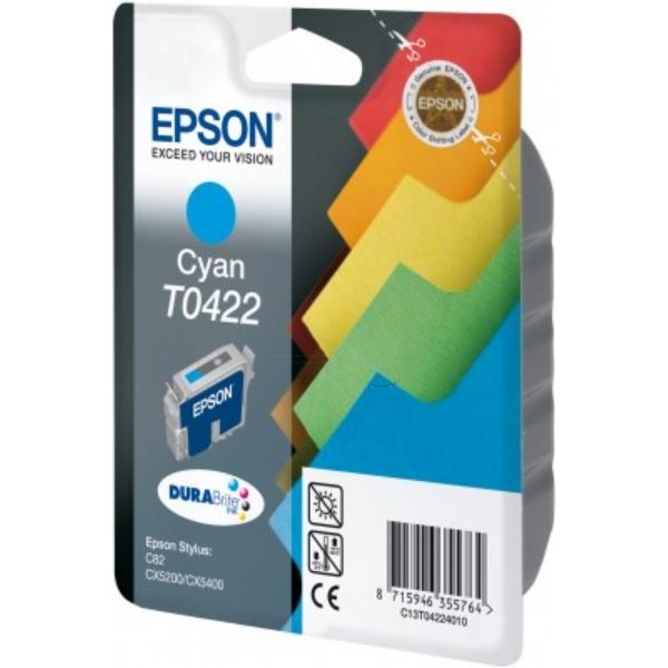 Original Epson C13T04224010 / T0422 Tintenpatrone cyan