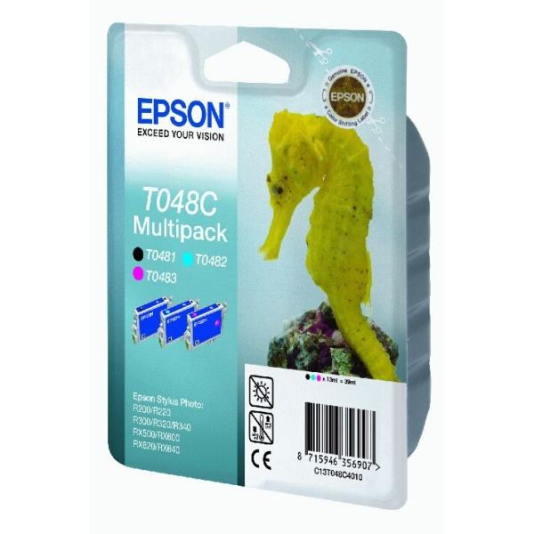 Original Epson C13T048C4010 / T048C Tintenpatrone cyan
