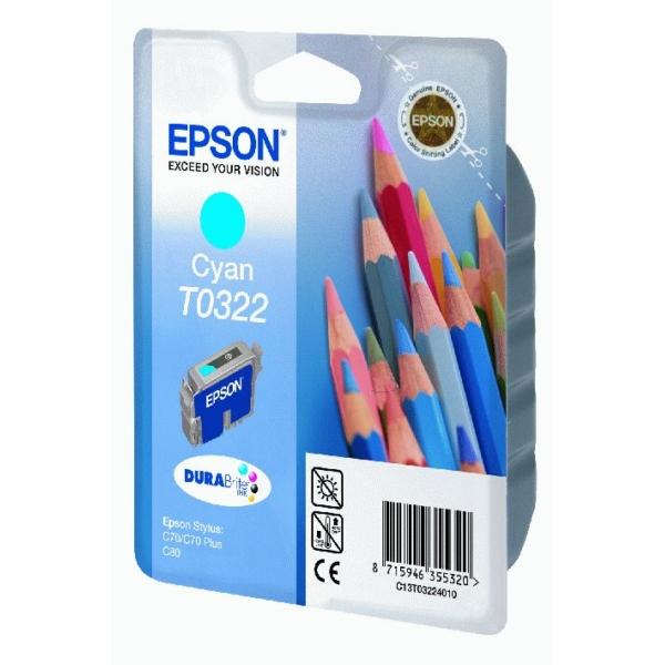 Original Epson C13T03224010 / T0322 Tintenpatrone cyan