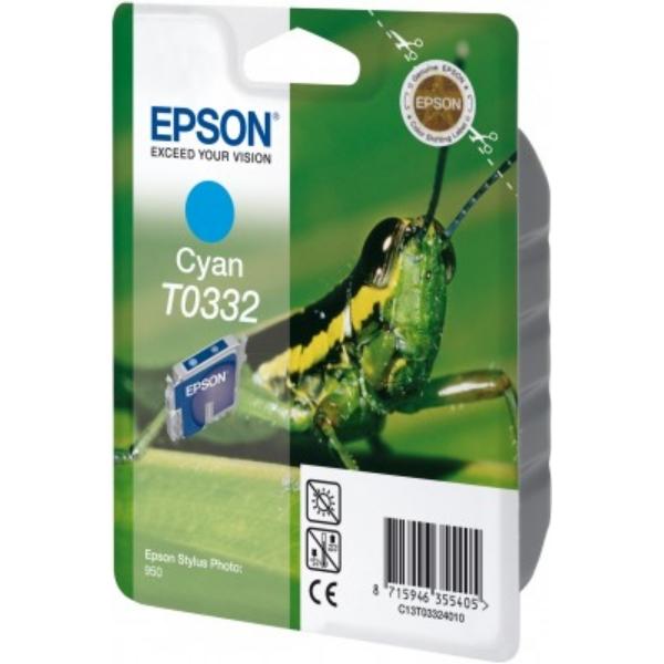 Original Epson C13T03324010 / T0332 Tintenpatrone cyan