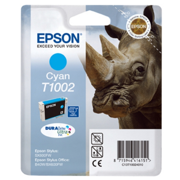 Original Epson C13T10024010 / T1002 Tintenpatrone cyan