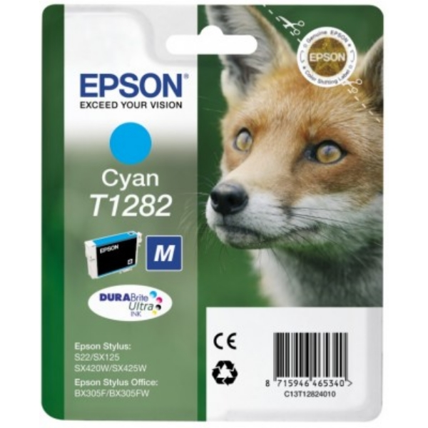 Original Epson C13T12824011 / T1282 Tintenpatrone cyan