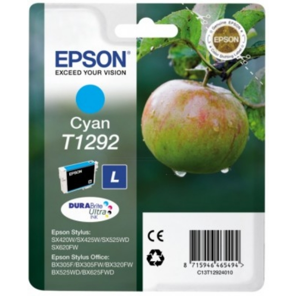 Original Epson C13T12924010 / T1292 Ink cartridge cyan