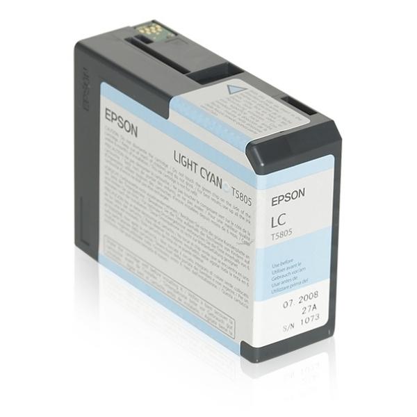 Original Epson C13T580500 / T5805 Tintenpatrone cyan hell