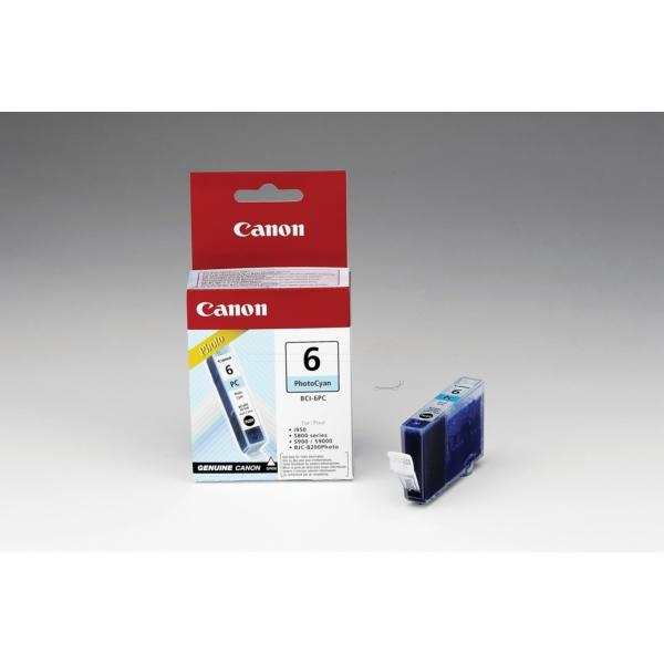 Original Canon 4709A002 / BCI6PC Tintenpatrone cyan hell