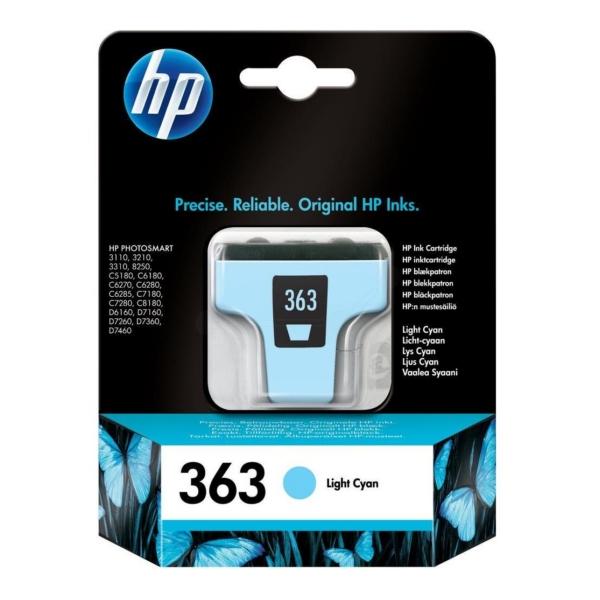 Original HP C8774EE / 363 Tintenpatrone cyan hell
