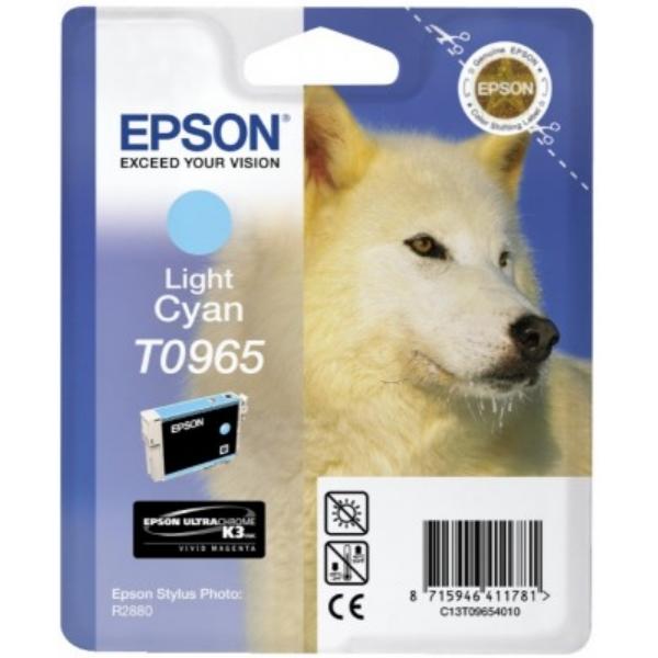 Original Epson C13T09654010 / T0965 Tintenpatrone cyan hell
