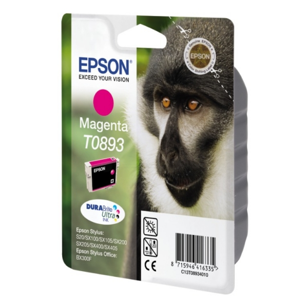 Original Epson C13T08934011 / T0893 Ink cartridge magenta