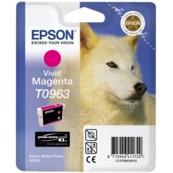 Original Epson C13T09634010 / T0963 Tintenpatrone magenta
