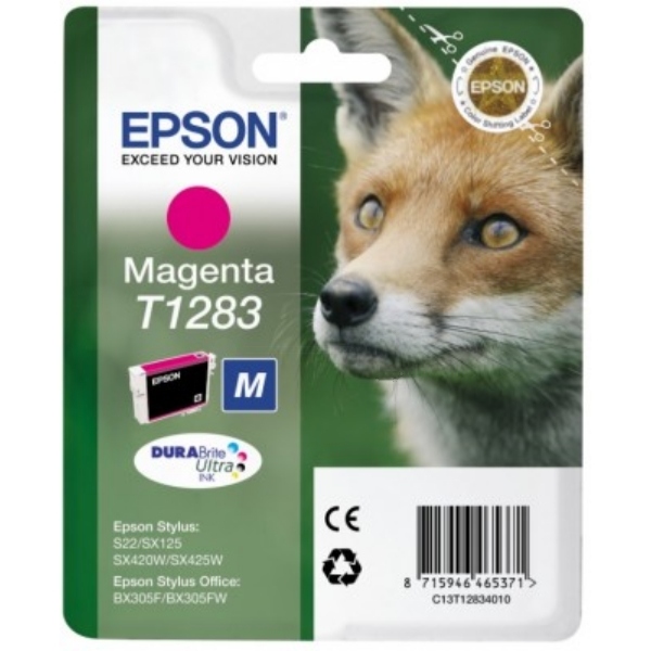Original Epson C13T12834011 / T1283 Tintenpatrone magenta