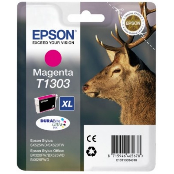 Original Epson C13T13034010 / T1303 Ink cartridge magenta