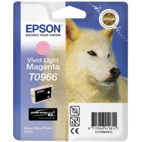 Original Epson C13T09664010 / T0966 Tintenpatrone magenta hell